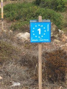 EuroVelo 1 sign